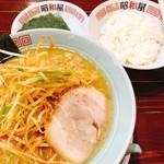 昭和屋 - 料理写真:ネギラーメンこってり太麺海苔ライス