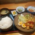 酒房 三日月食堂 - 日替定食(ご飯大盛り)