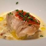 リストランテ ペガソ - 天津小湊産 金目鯛の炭火焼 アサリと野菜のクリーム煮