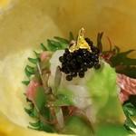 105329960 - 夏蜜柑釜の牛肉素麺