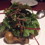 ブラッスリー・ラルテミス  - フランス産木の子と鴨砂肝のコンフィのサラダ