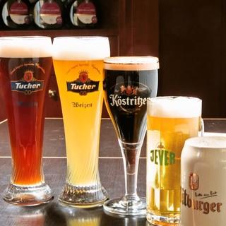 ★ドイツの樽生ビール常時5種&瓶ビール約11種★