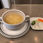 ハーベスト - 本日のスープとお新香