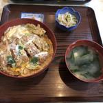 とん喜 - 料理写真:かつ丼定食全景