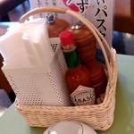 パステルイタリアーナ - 【2019.4.9(火)】テーブルにある調味料