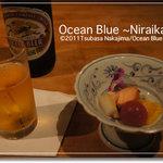 Gionramburu - 2011.11.【先付け】スモークサーモンと紋甲イカの酒盗焼 柿のアマレットソース