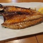 魚々市 - 関サバの塩焼き       (2019.3月)