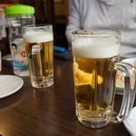 ホシギ2羽チキン - ビール