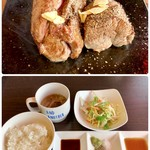炎のステーキ - 料理写真:ヒレ300g 2380円 ライス、スープ、サラダ食べ放題 180円