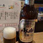 京の串揚げ 祇園囃子 - 瓶ビール アサヒスーパードライ 大瓶