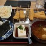 京の串揚げ 祇園囃子 - おむすび串揚げセット