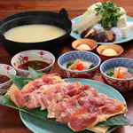 京赤地鶏の水炊き 【小鉢・雑炊・甘味】