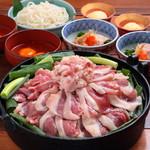 京鴨と九条葱のすき焼き