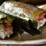恵比寿横丁 肉寿司 - 馬とろたく(250円)×2