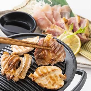 九州地鶏の焼きしゃぶ・鶏刺し等こだわりの鶏料理を堪能!!