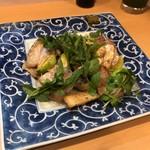 うち田 - プラチナポークのブルーチーズ炒め