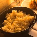 海遊山楽 ゆう - ご飯は白米、玄米、炊き込みご飯から選べます。 写真は玄米。
