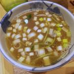 105353815 - 2周年のつけ蕎麦 スープ割