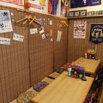 沖縄ダイニング 島のれん - 沖縄的落ち着ける店内。