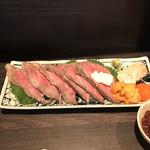 105356915 - 信州牛の贅沢ローストビーフ。                       美味し。
