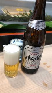 日乃出寿し - スーパードライ中瓶