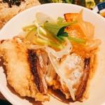 玄米カフェ 実身美  - 揚げ鯖とごろっと野菜の生姜味噌煮。食べ応えがあります!