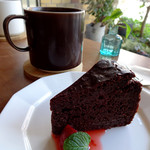 trim - ガトーショコラ(ハーフサイズ)&ほうじ茶