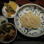 喜多一 - 料理写真:野菜天ぷら肉汁うどん