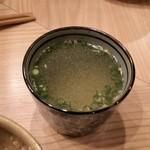焼鳥 高田 - 鶏スープ。