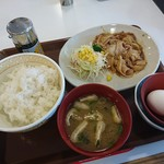 105380854 - 豚生姜焼き朝食 肉2倍盛(¥490)