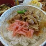 105380856 - 自力生姜焼き丼です