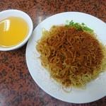 105383657 - 竹升蝦子撈麵(海老の卵のせ麺)