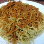 105383661 - 竹升蝦子撈麵(海老の卵のせ麺)