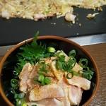 お好み焼 もんじゃ焼 わらべ - 料理写真:もんじゃ&地鶏むね刺みぞれポン酢
