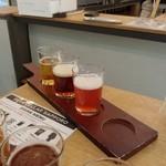 ビア セラー サッポロ - ランチフライトのビール3種