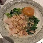 アカマル屋 - 菜の花味噌漬け卵黄