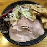 ミソスタイル となみ - 料理写真:・みそラーメン 800円  ・ねぎ増し 100円  ・メンマ増し 150円