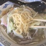 朝日屋 - 細麺