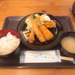 菊一商店 - 料理写真:ミックスフライ定食 ¥500