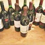 ジビエ&ワイン ブラッスリー山梨 - ワイン倍増!グラスでご提供致します。