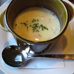 ピアットロッソ - セットのスープ(蟹のクリームスープ)