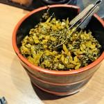 暖暮 - 卓上の辛子高菜
