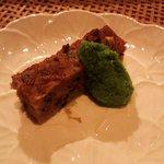 風乃音 - 蓮根餅青菜のソース