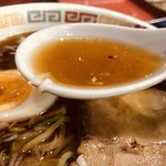 まちだ食堂 - かつ重セット@850円のミニラーメンスープ