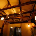酒亭赤坂かねさく - 解放感のある2階天井