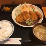 飯の肴 てらや - 料理写真:チキンみそかつ定食