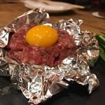 CarneTribe 肉バル - みなせ牛の炙りユッケ