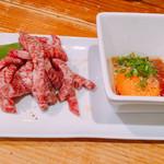 恵比寿 英司 - 上炙り肉 ユッケたれ付 1000円