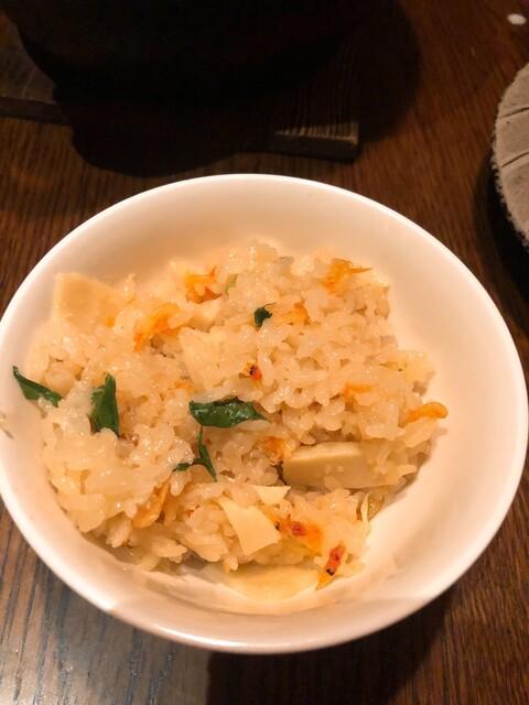 小割烹 おはし 渋谷 - 筍と桜海老の炊きたて羽釜ご飯