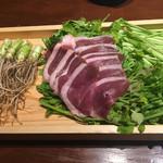 三枡三蔵 - セリと鴨肉です